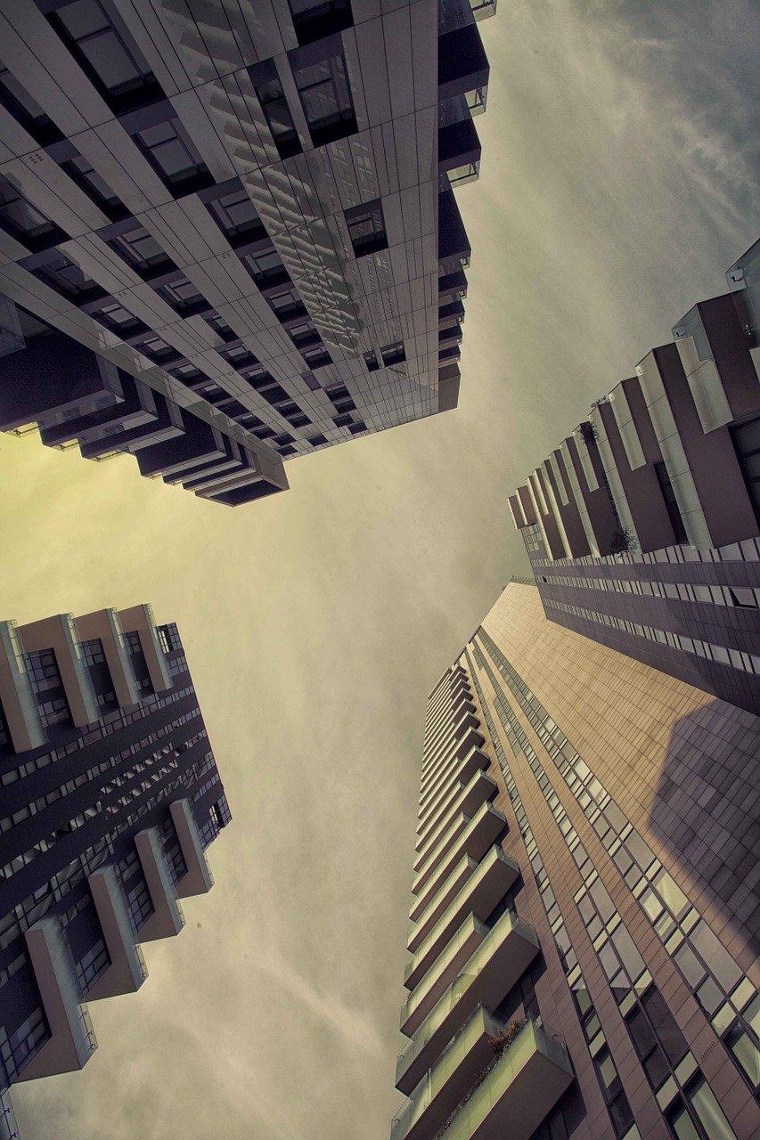 arquitectura, edificios, perspectiva