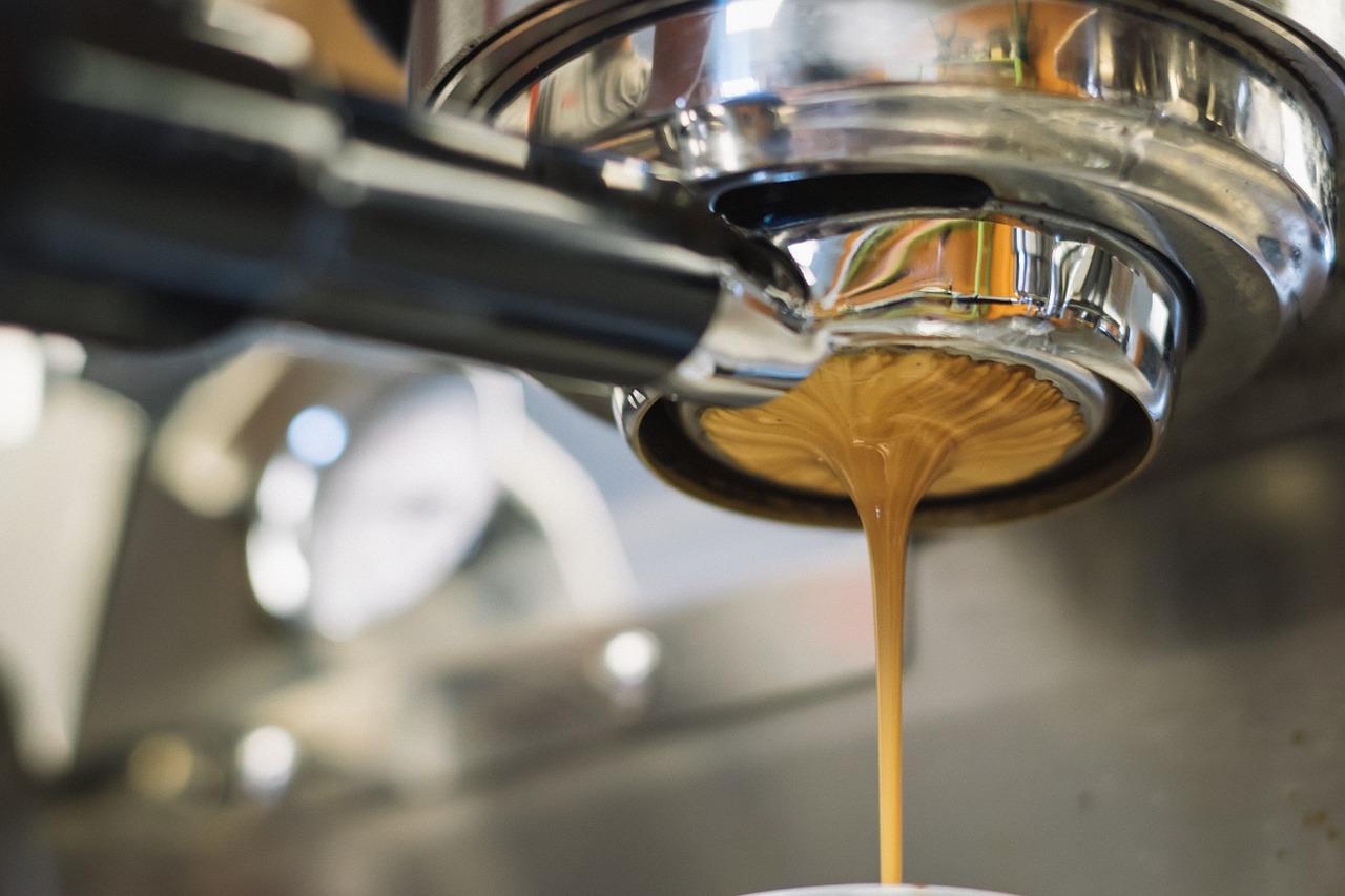 café, máquina, portafiltro