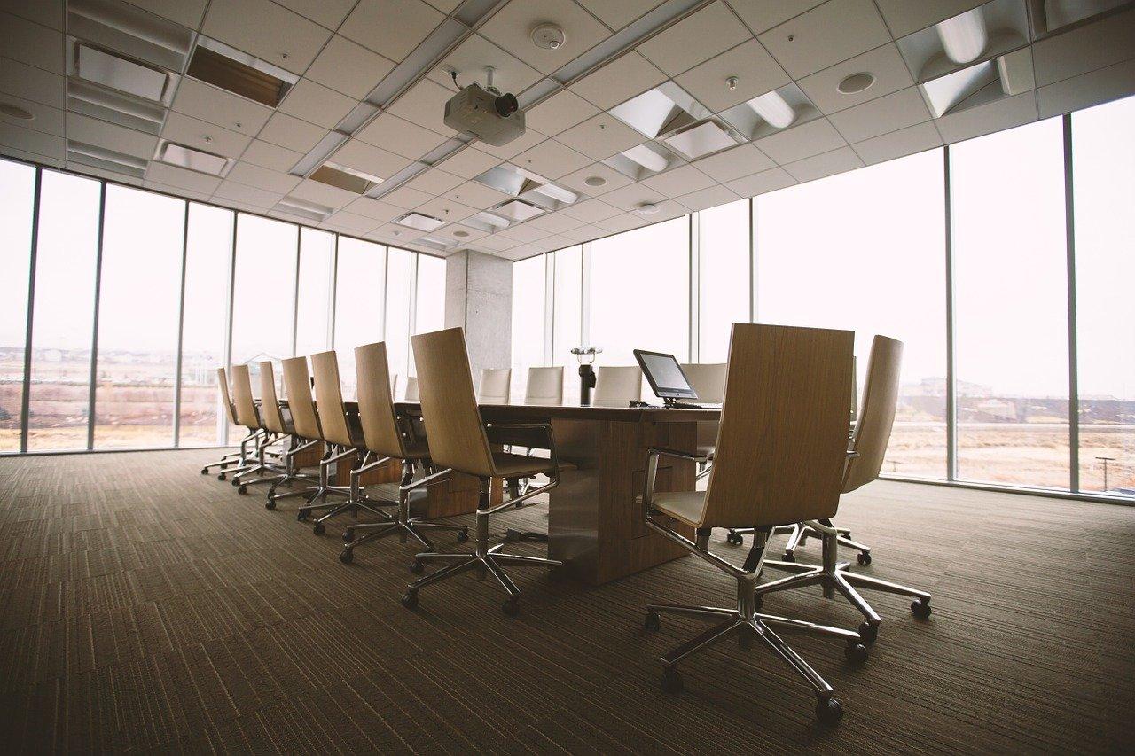 sala de conferencias, mesa, oficina