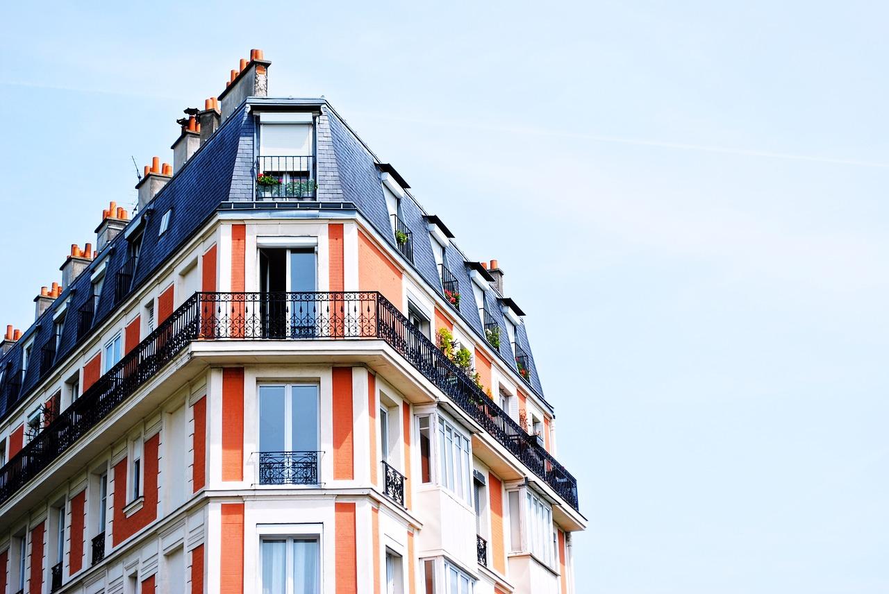 edificio de apartamentos, balcones, edificio