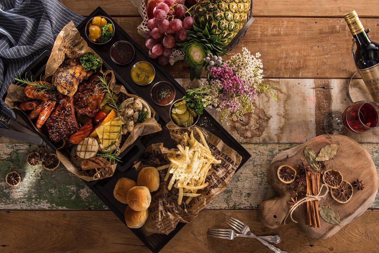plato, comida, entrantes
