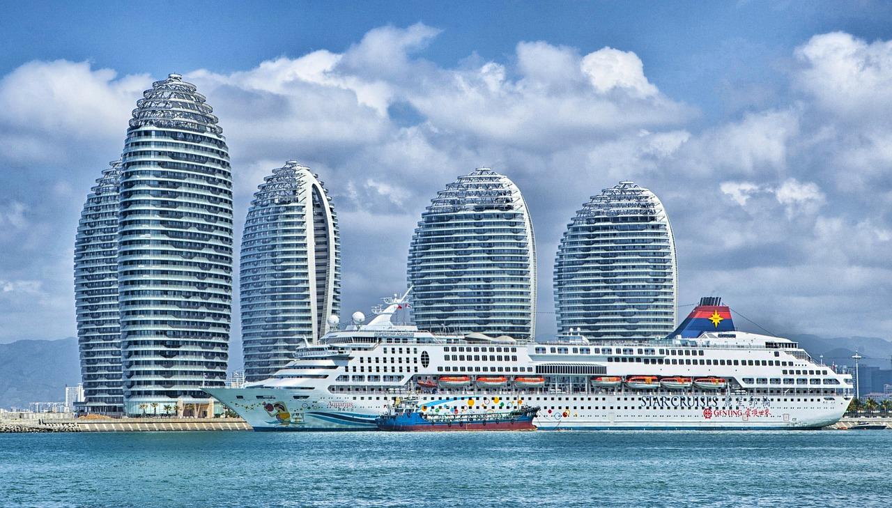 embarcacion, ciudad, puerto