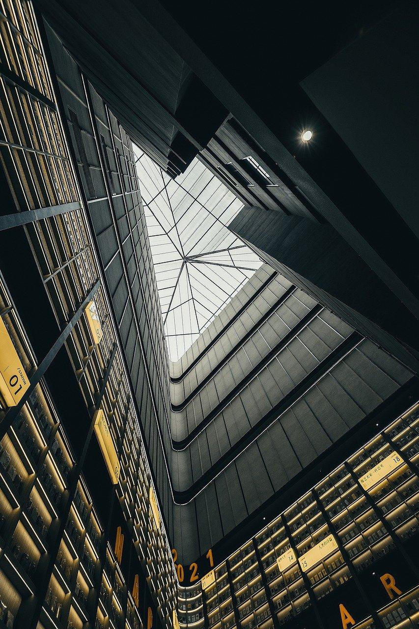 edificio, interiores, arquitectura