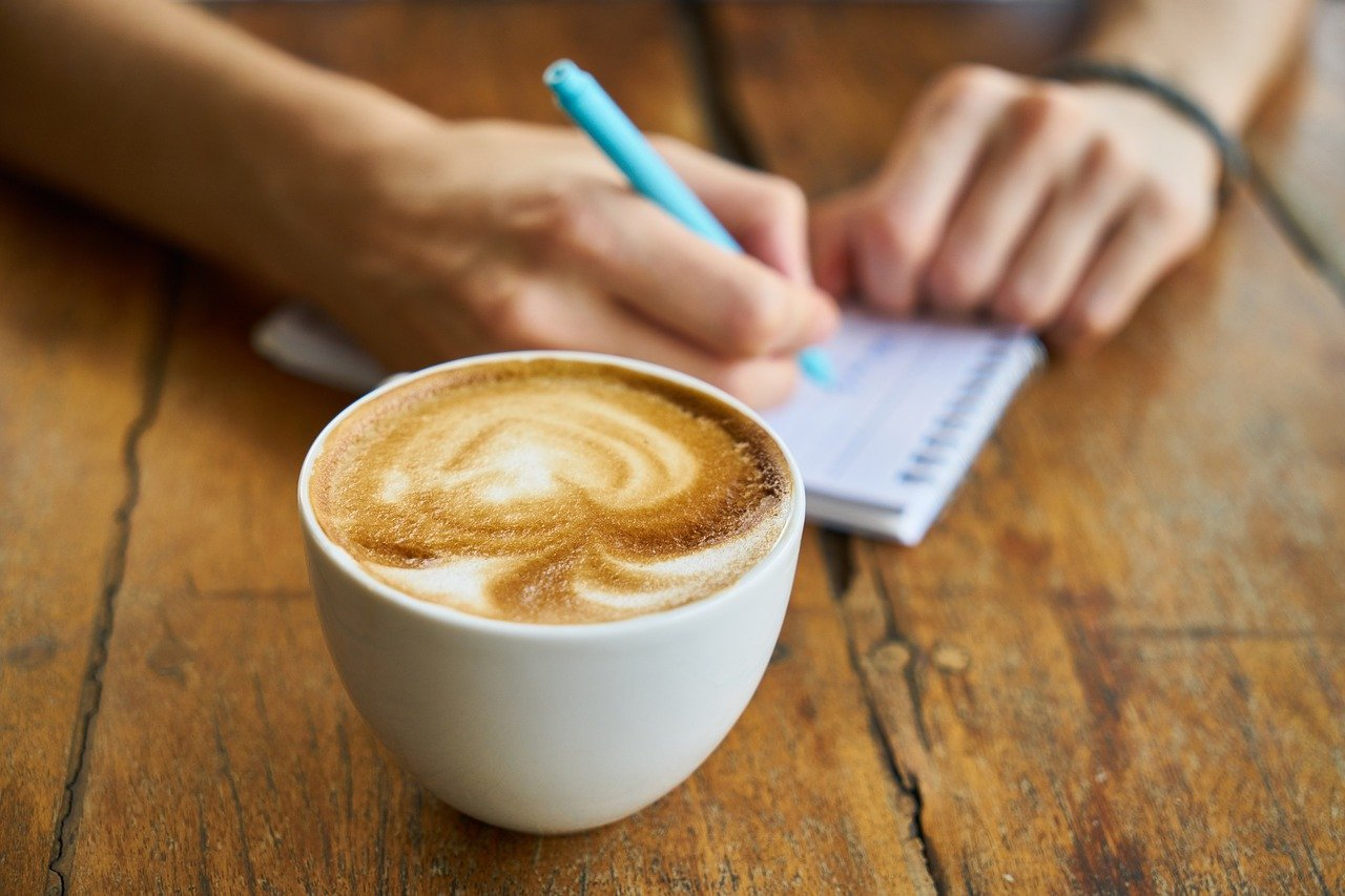café, taza, capuchino