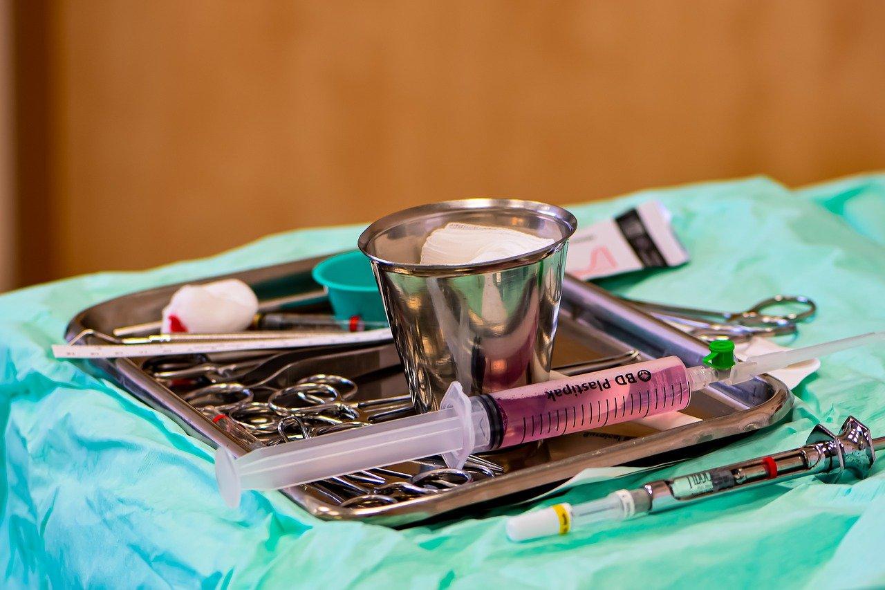 cirugía, la anestesia, jeringuilla