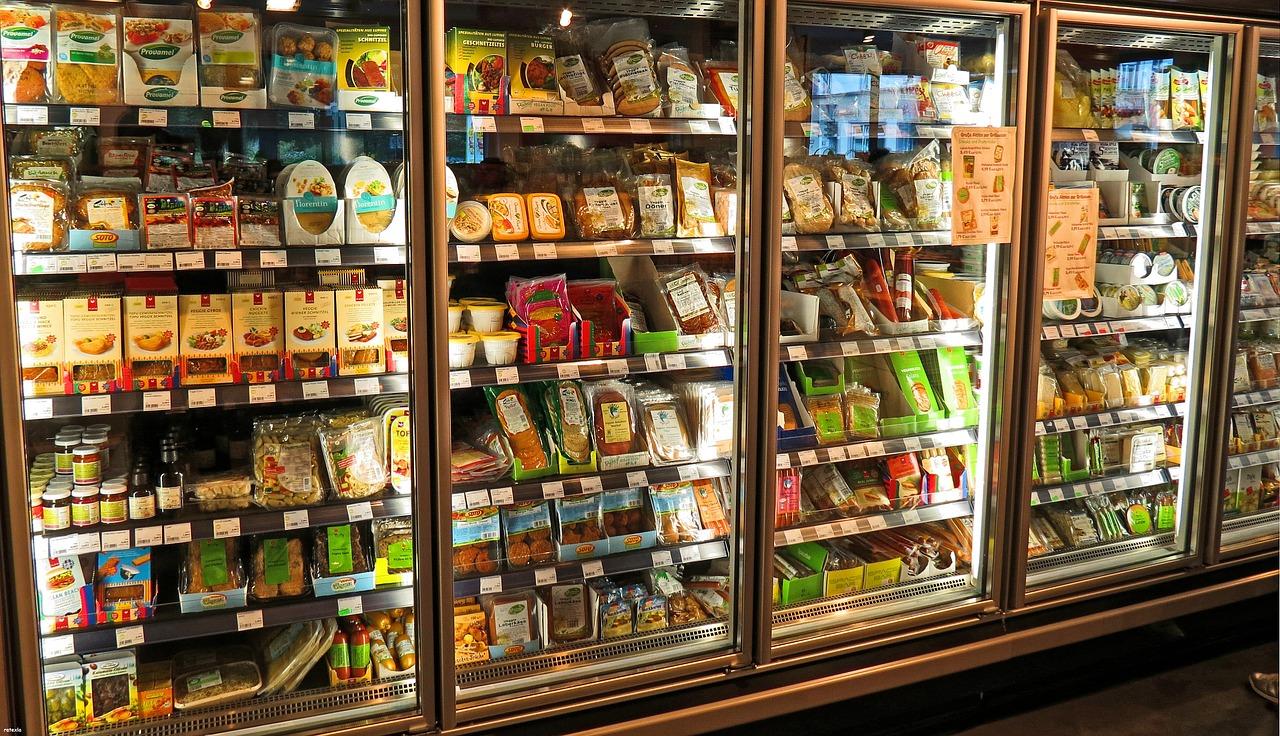 supermercado, refrigerador, produce