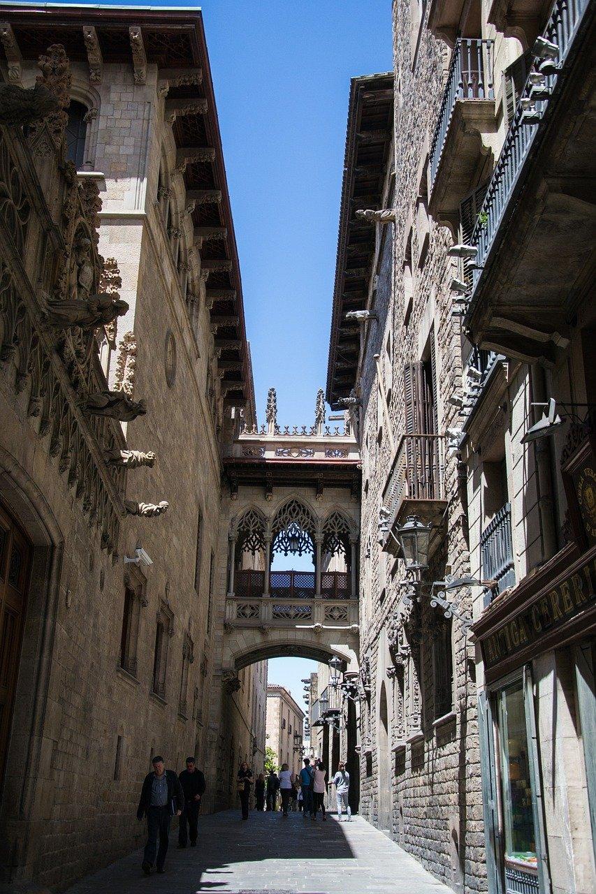 calle estrecho, arquitectura, barcelona
