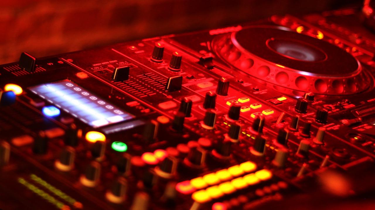 mezclador, equipo, audio