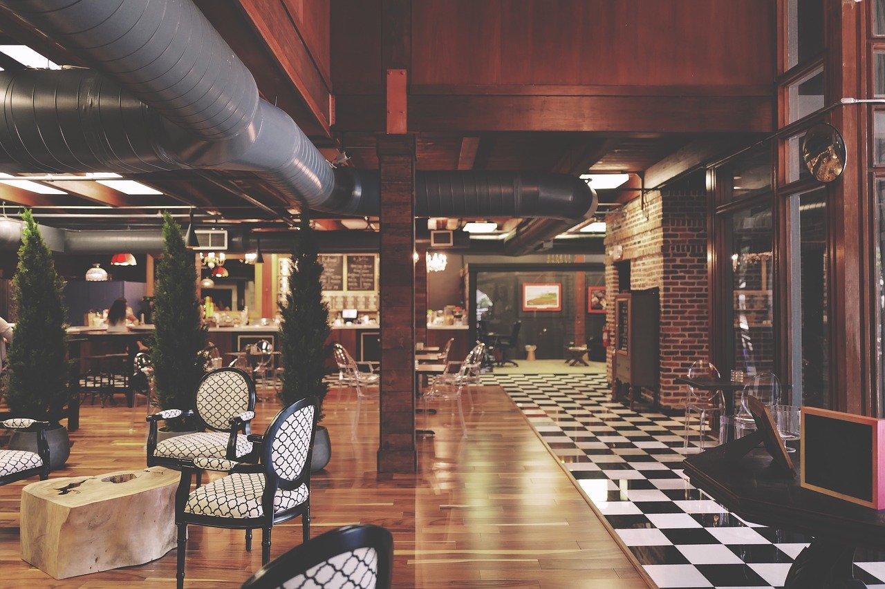restaurante, muebles, interiores