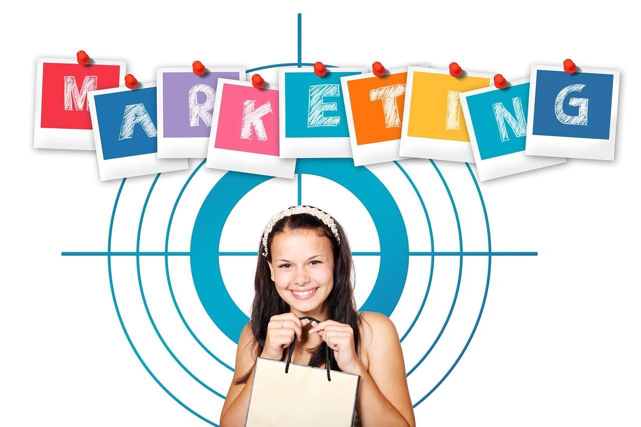 márketing, cliente, mujer