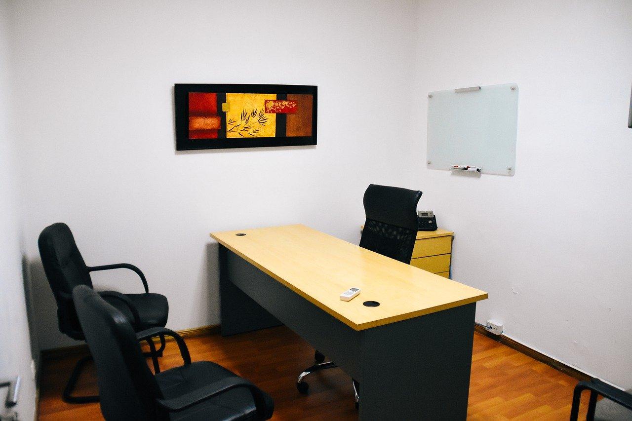 pequeña oficina, oficina, escritorio