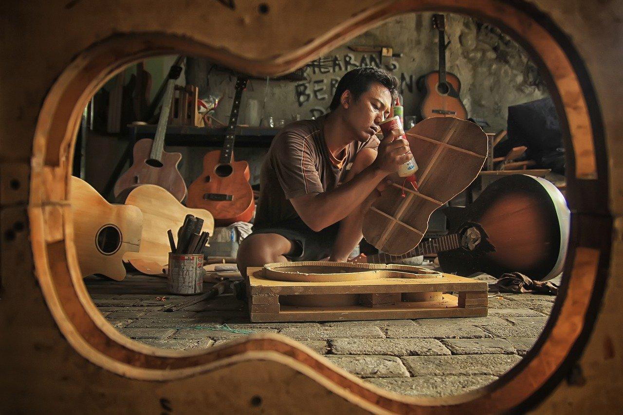 taller, instrumento, madera