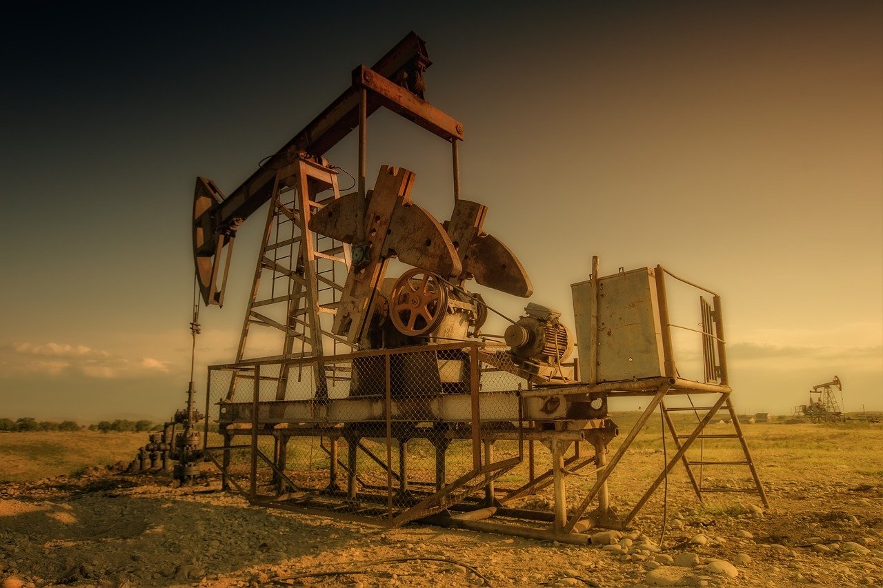plataforma petrolera, industria, viejo