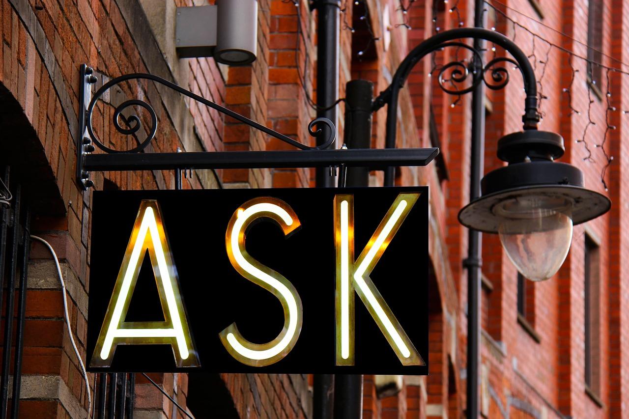 preguntar, firmar, diseño