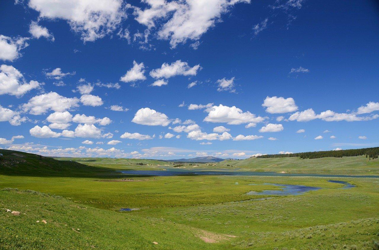 valle, campo, paisaje