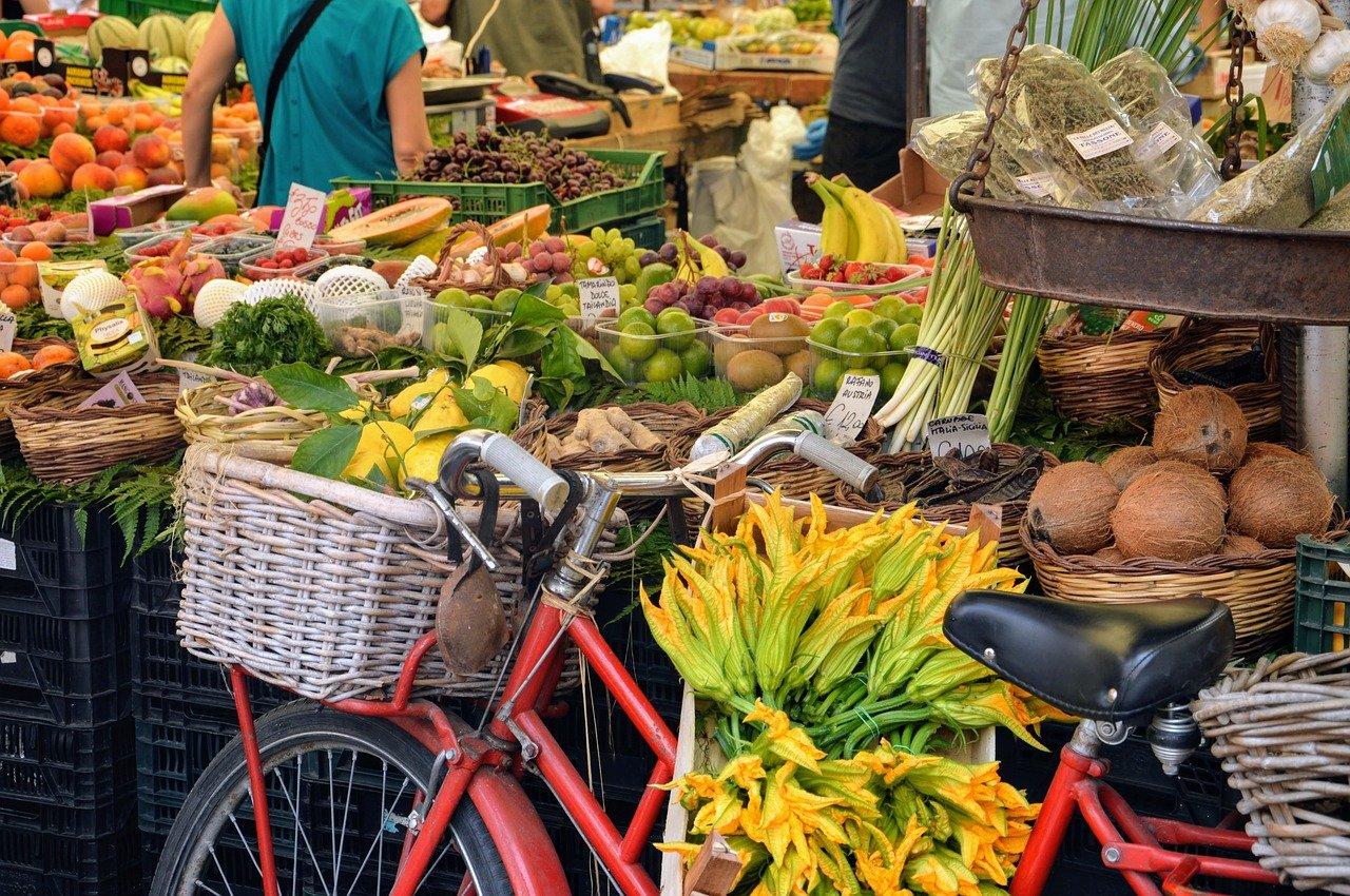 mercado, italia, fruta