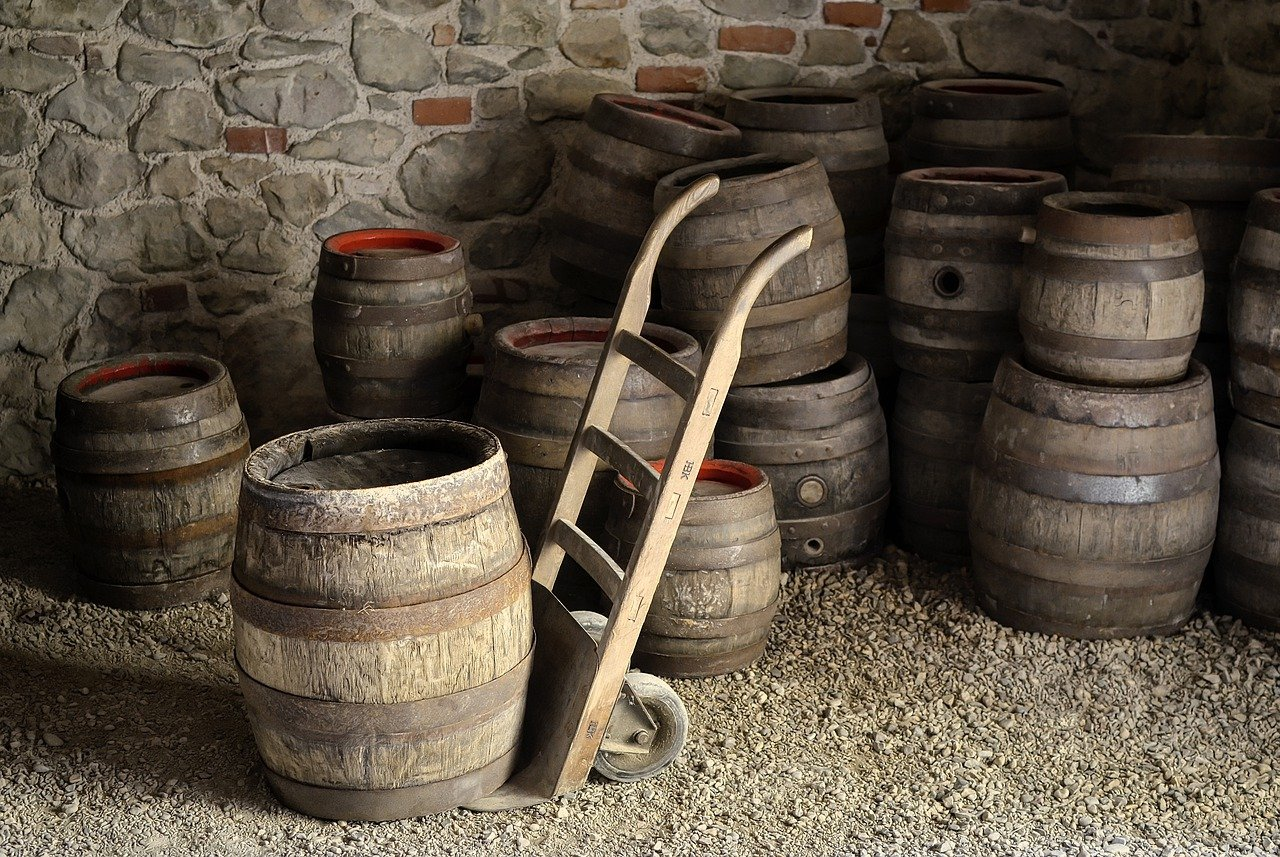barriles, cerveza, cervecería