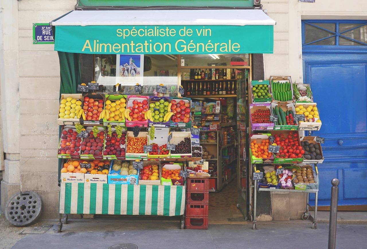 fruta, frutería, venta