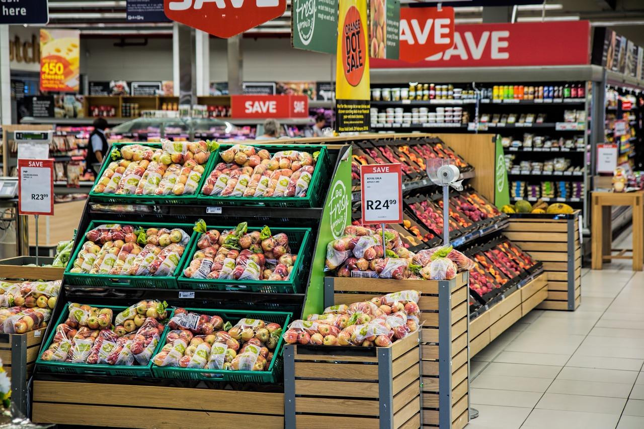 tienda de comestibles, compras, supermercado