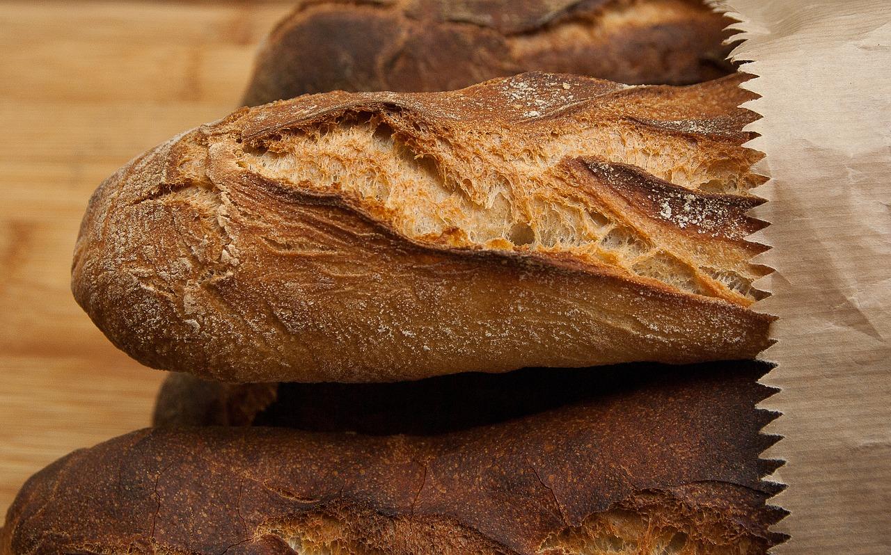 pan, baguettes, corteza