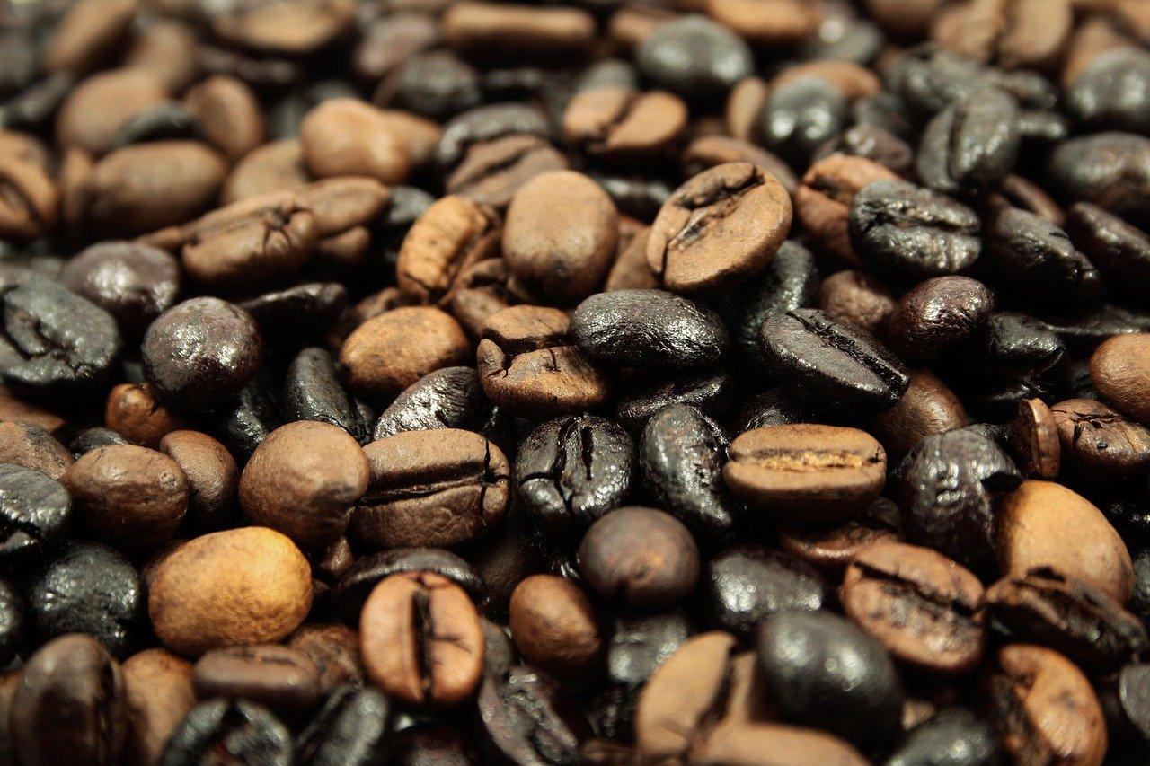 café, frijoles, granos de café