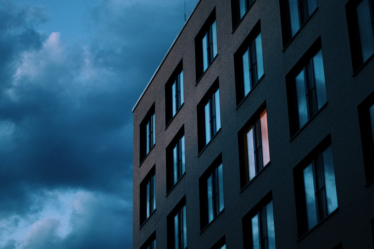casa, arquitectura, ciudad