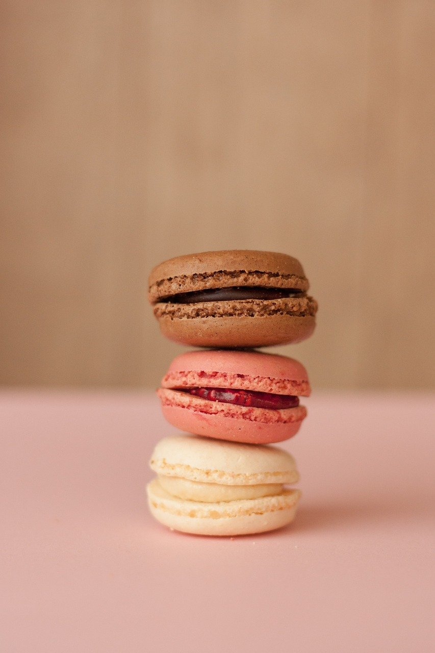 pastelería, macaron, dulce