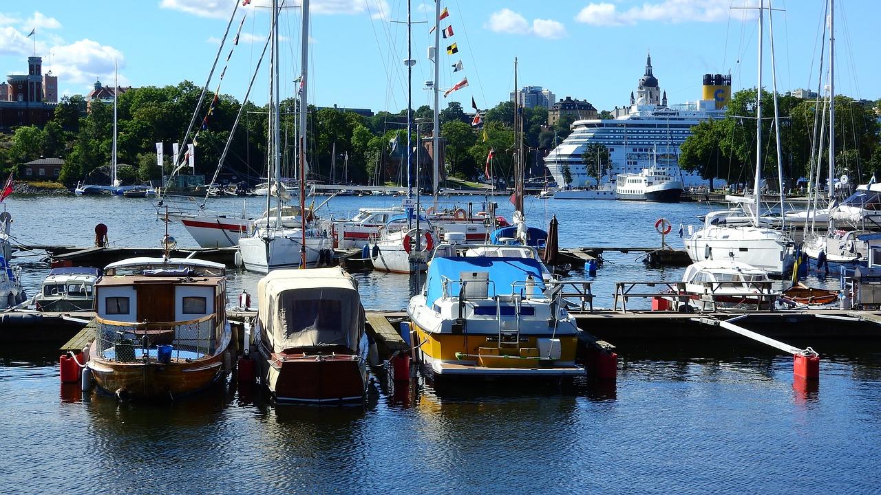 buques, ensenada, puerto