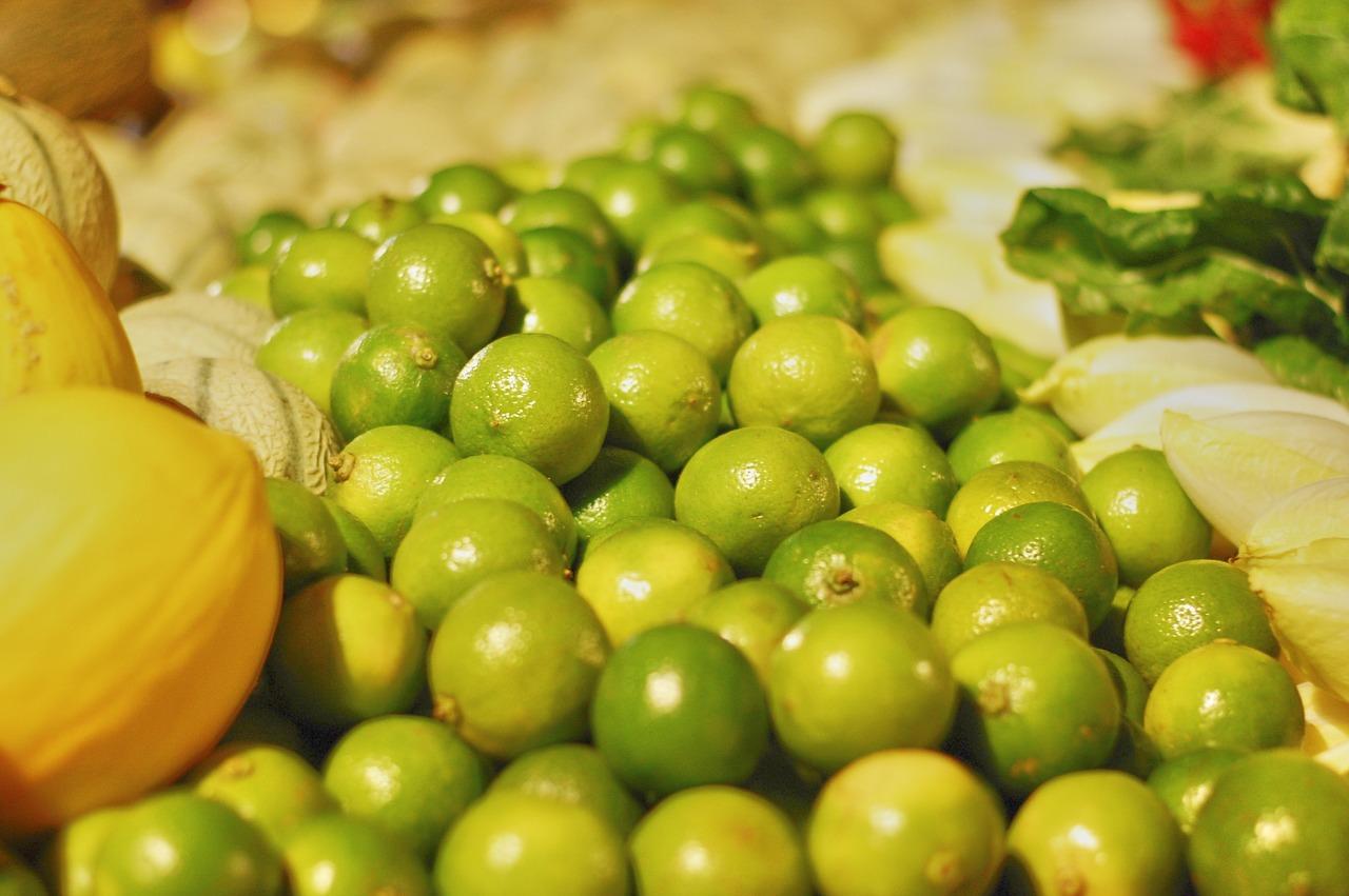 frutería, fruta, limas
