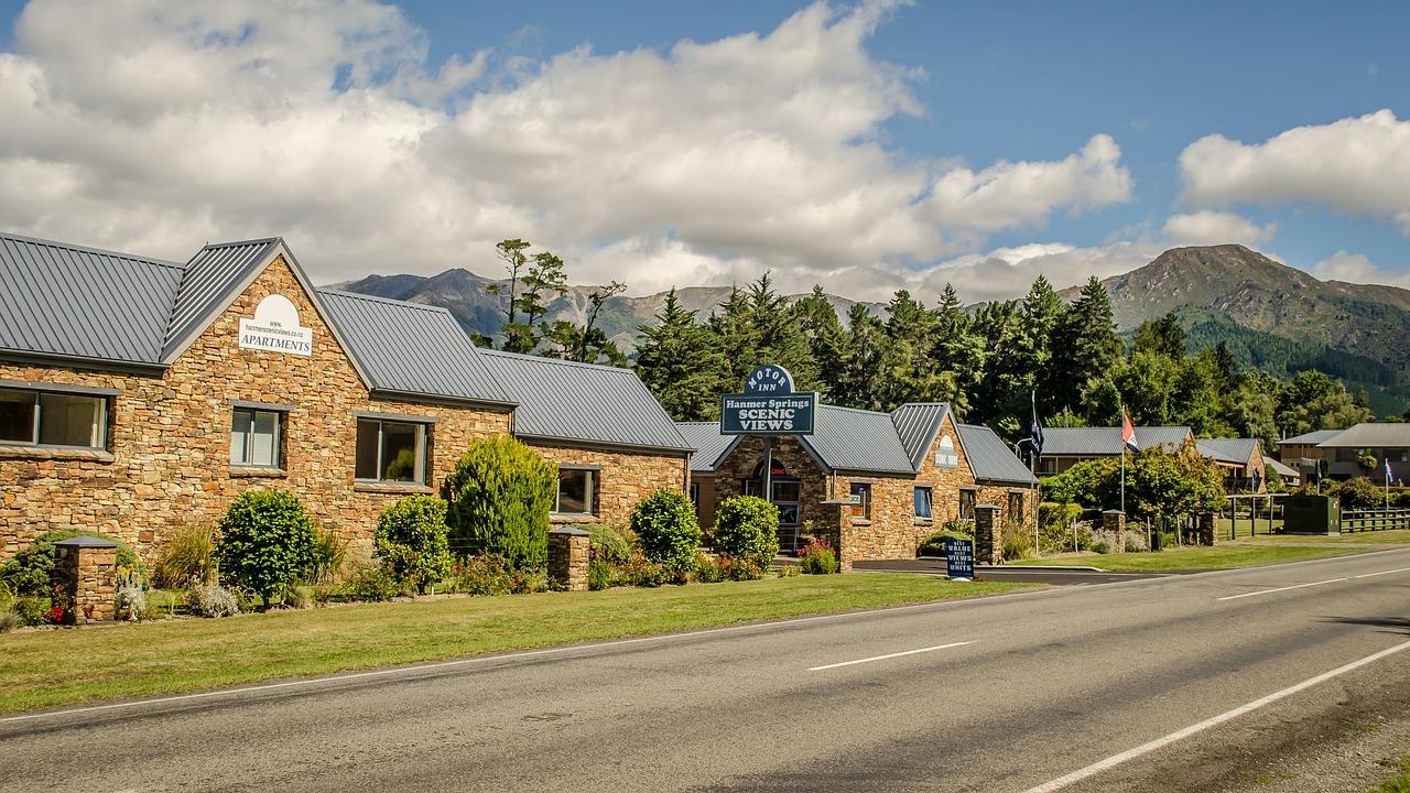hostel, camino, naturaleza