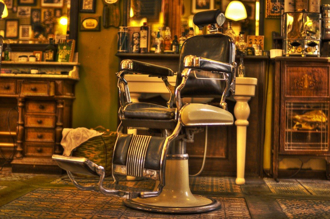barbero, silla, salón