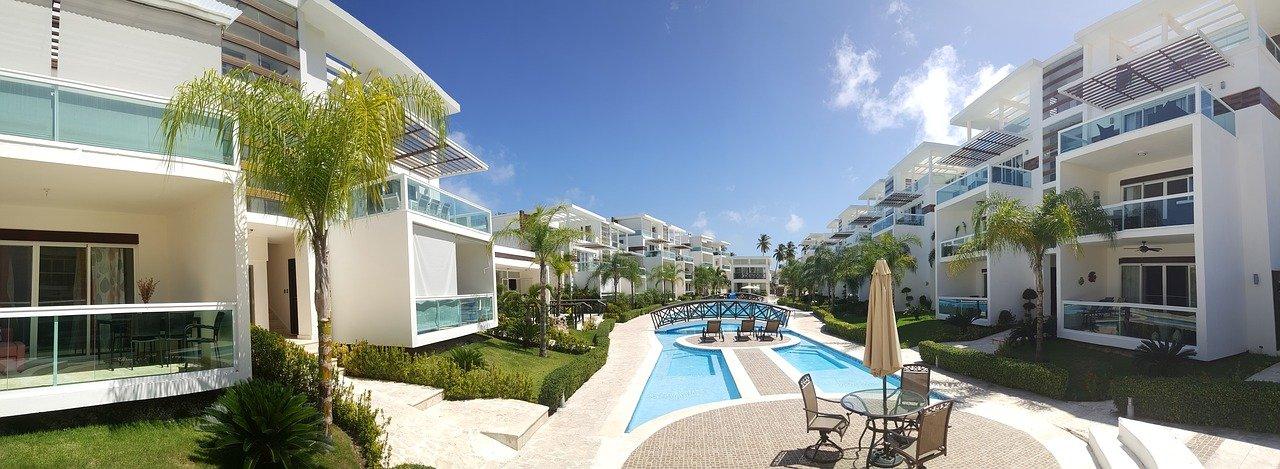vacaciones, apartamentos, hotel