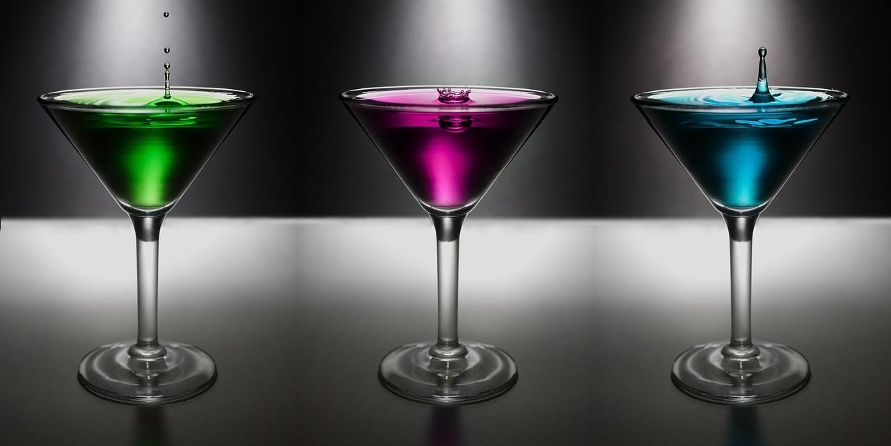 martini, soltar, agua