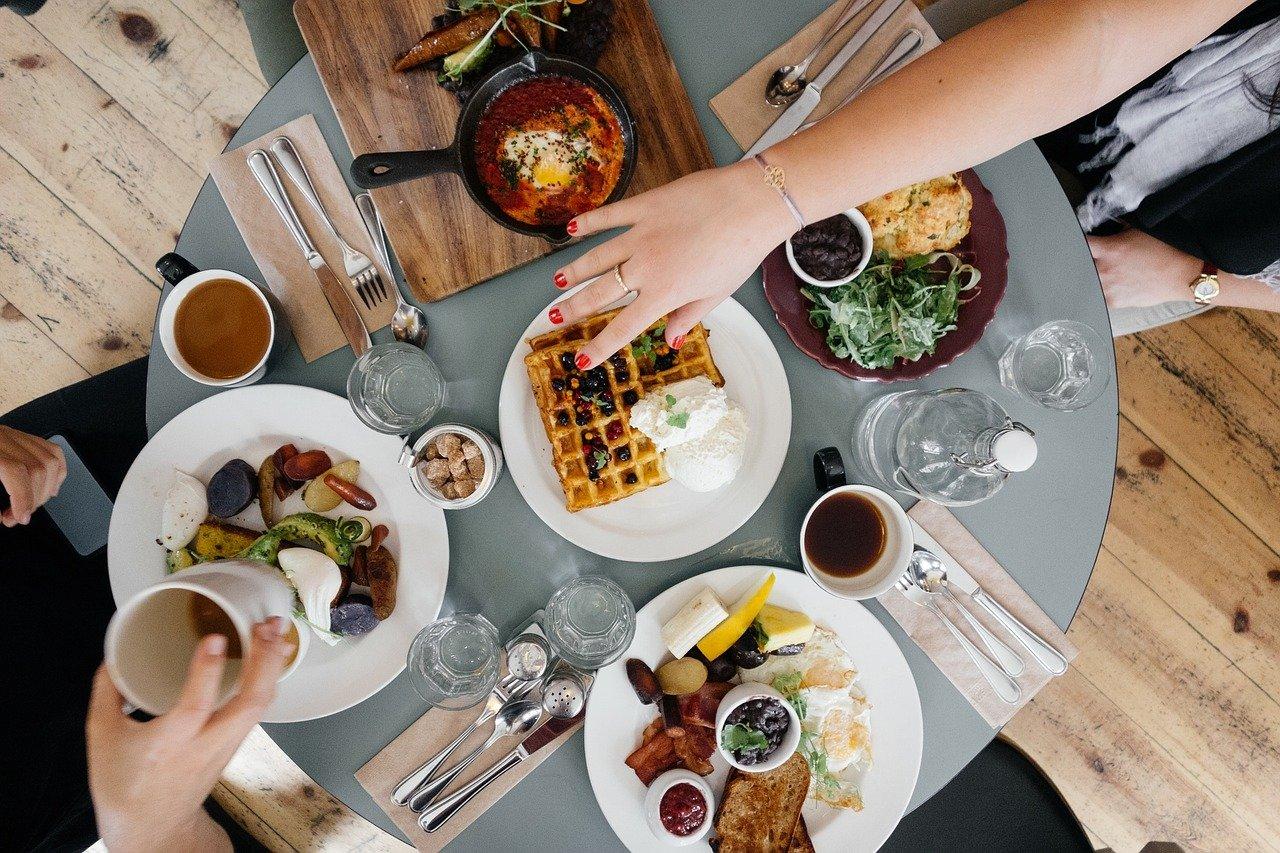 desayuno, comida, comiendo