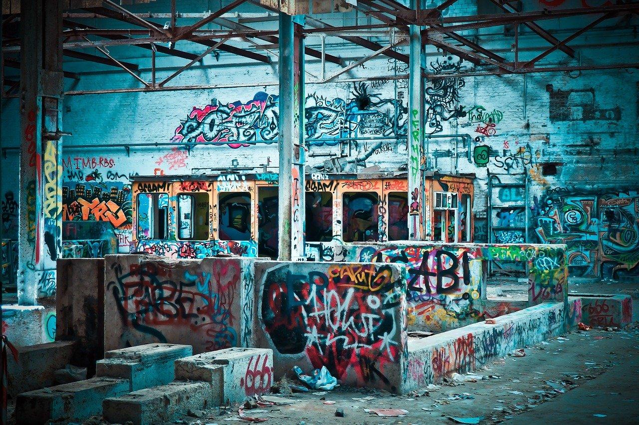 lugares perdidos, pintada, abandonado
