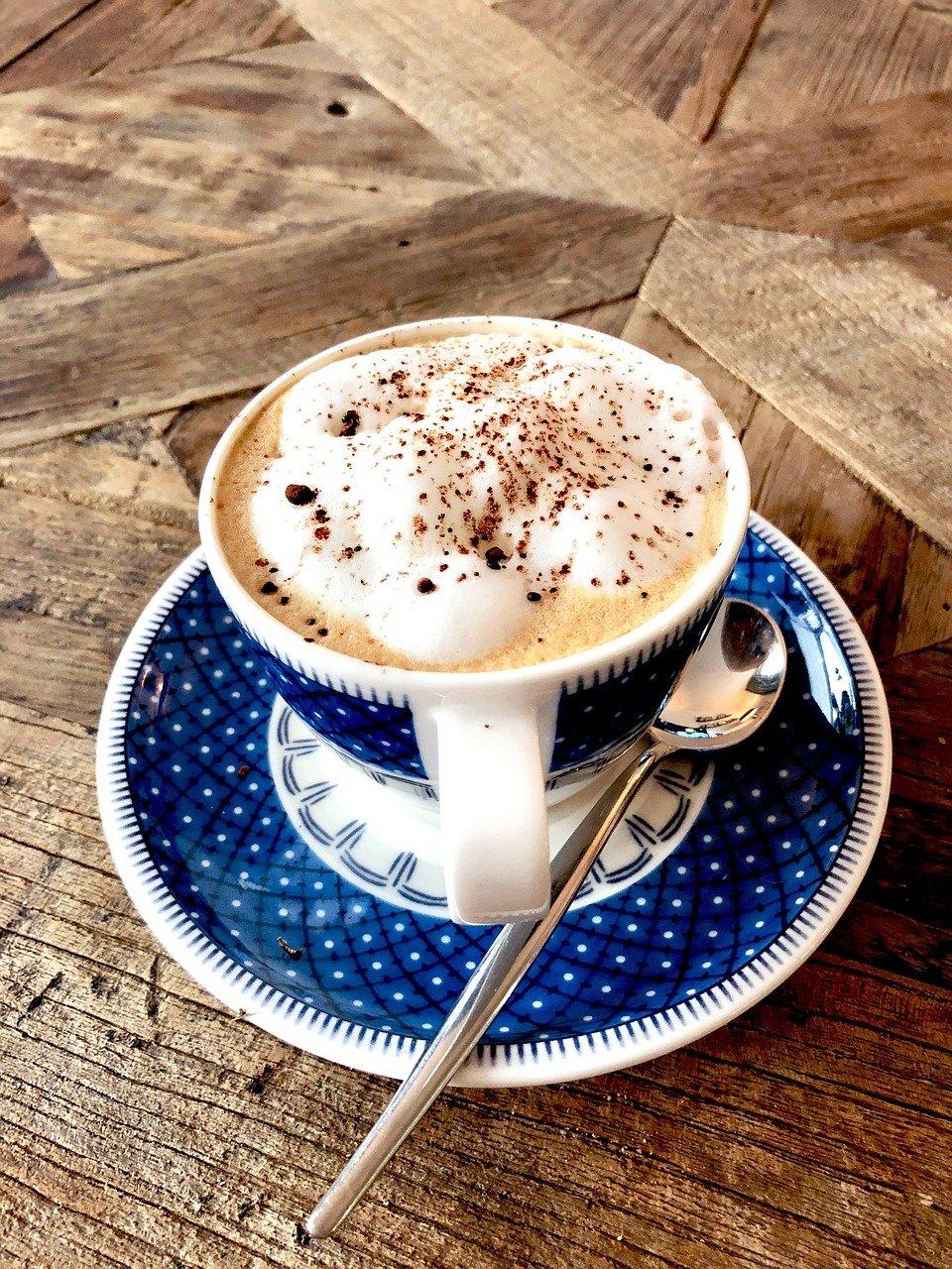 café, capuchino, latté