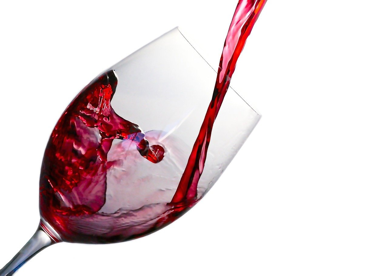vino, chapoteo, vidrio