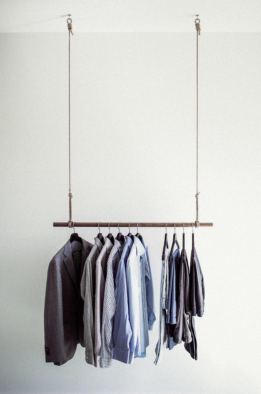 barra de ropa, camisetas, ropa